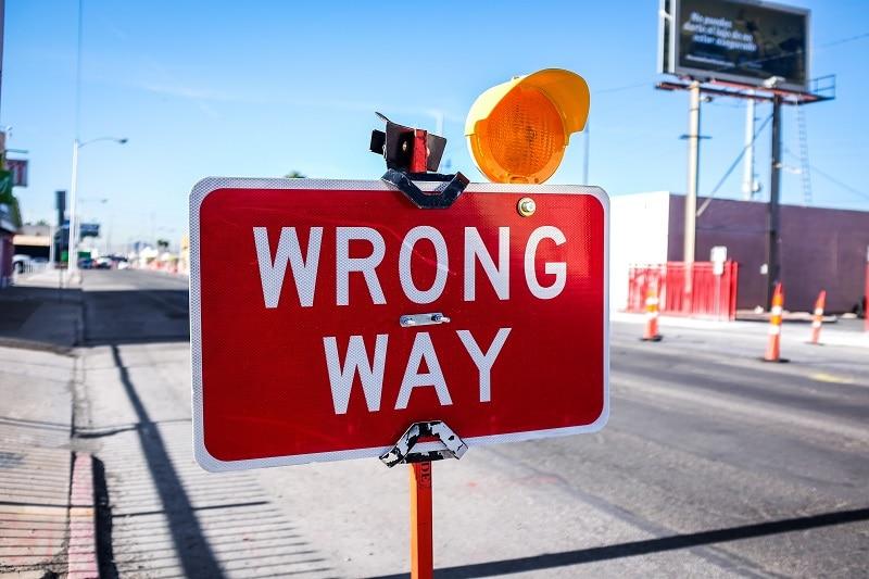 strada sbagliata