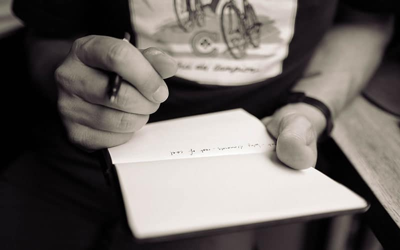 bela calligrafia - scrivere a mano