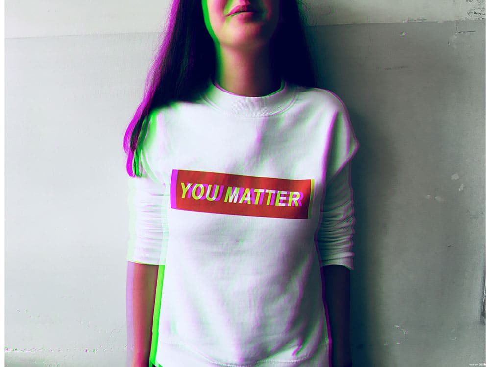 T-shirt con scritta You matter