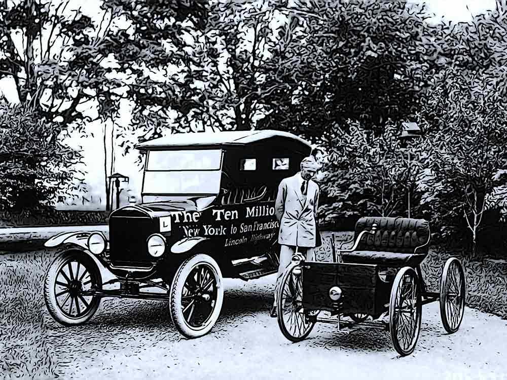 Harrison ford e un'auto