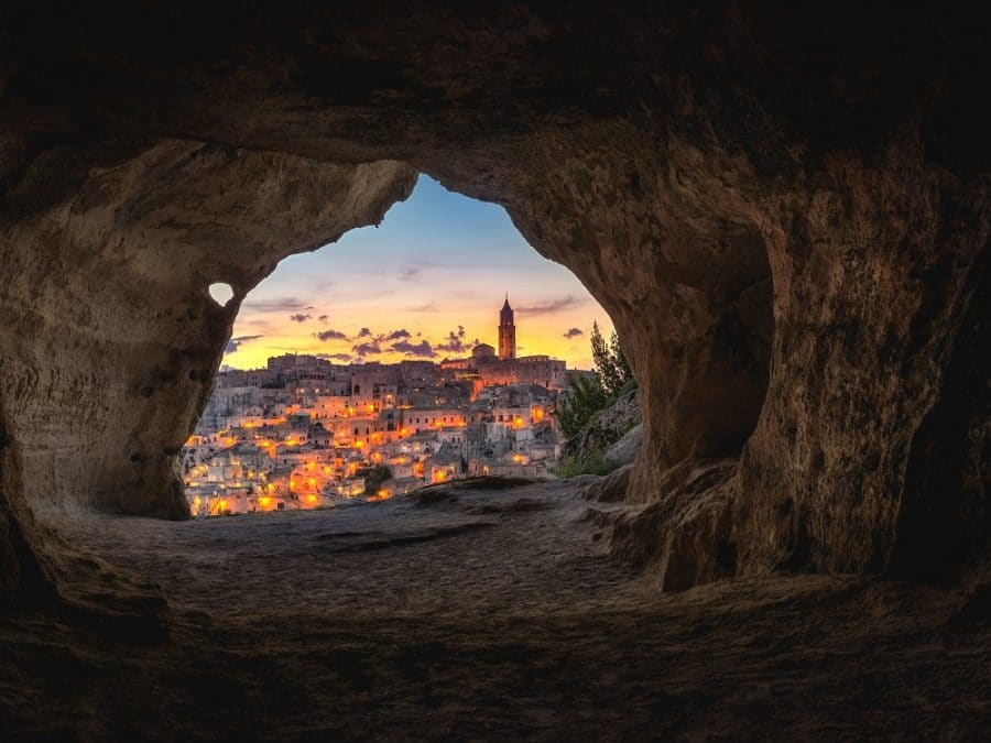 Città di Matera, scorcio del centro storico
