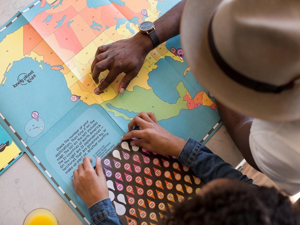 Materiale didattico per la scuola, mappa del mondo