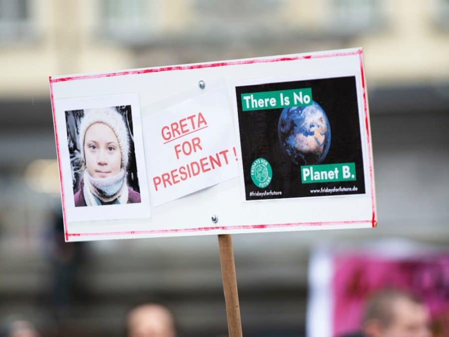 Greta Thunberg for President, cartello Fridays for Future