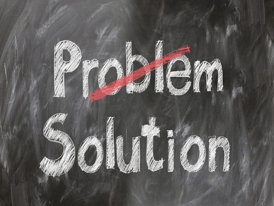 Scritta su lavagna, Problema - Soluzione