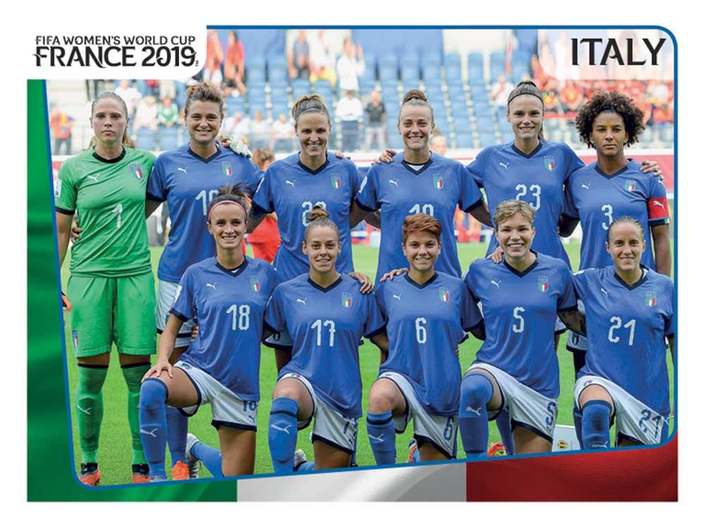 Nazionale italiana di calcio femminile, figurine Panini