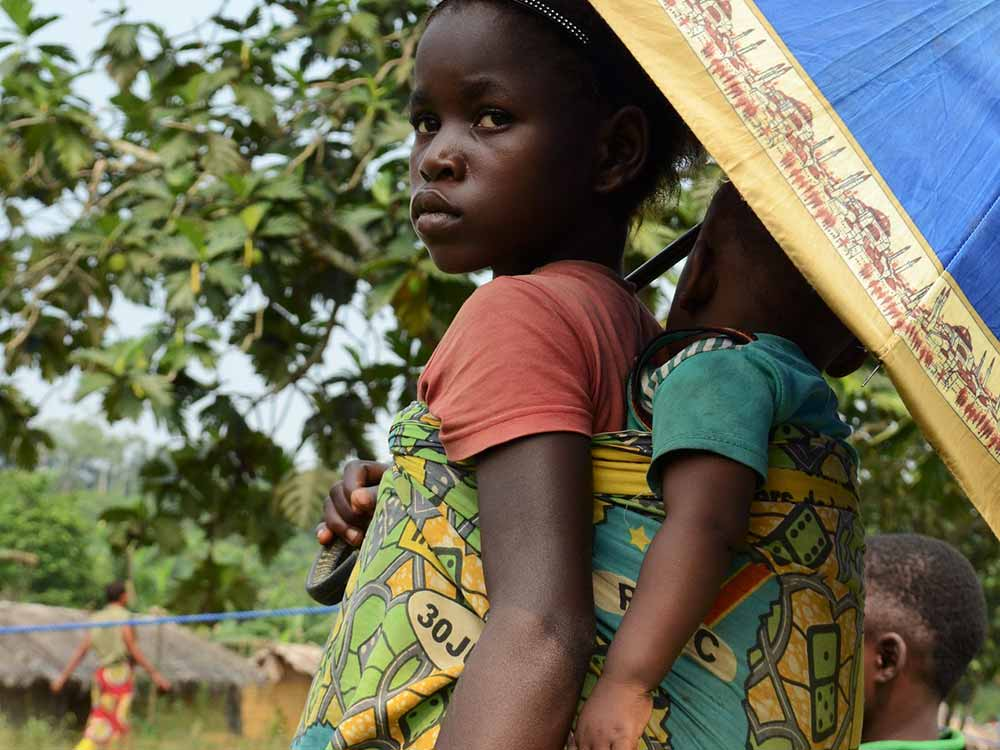 Bambina in Congo