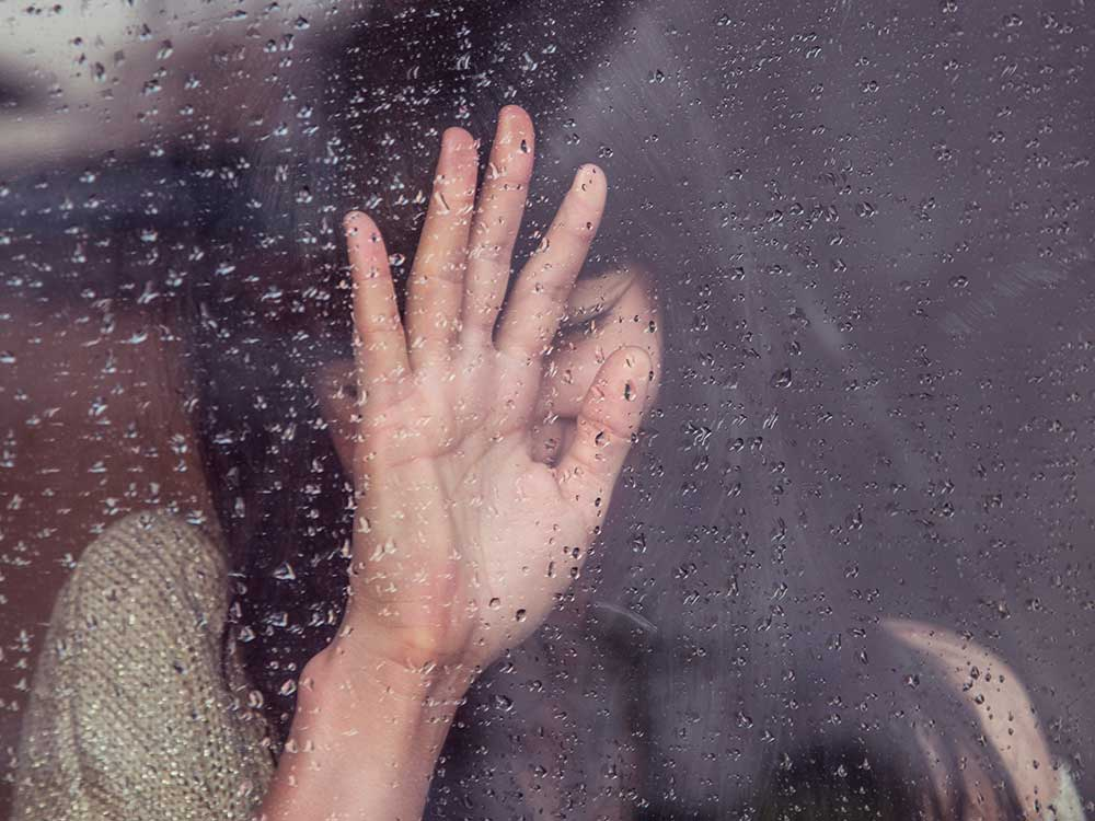 Donna in lacrime