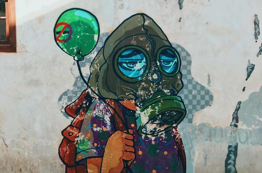 inquinamento murales