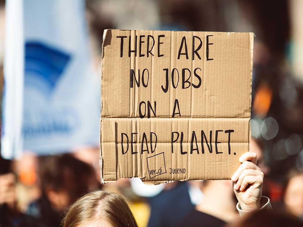 Lavoro e protesta per il clima