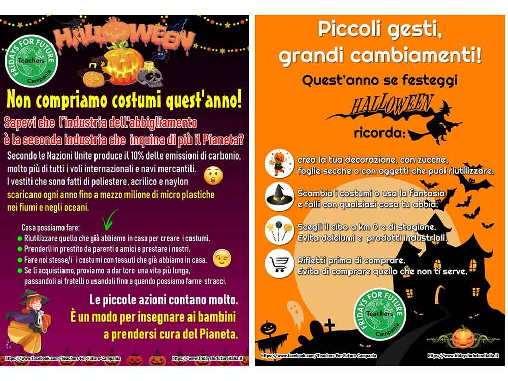 Teachers for future Campania Halloween 2019