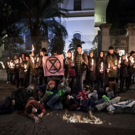 Extinction Rebellion, Ambasciata Australiana a Roma