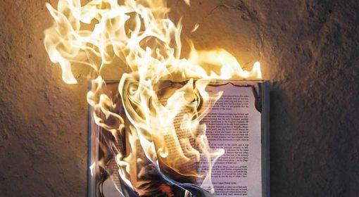 libri bruciati nel microonde