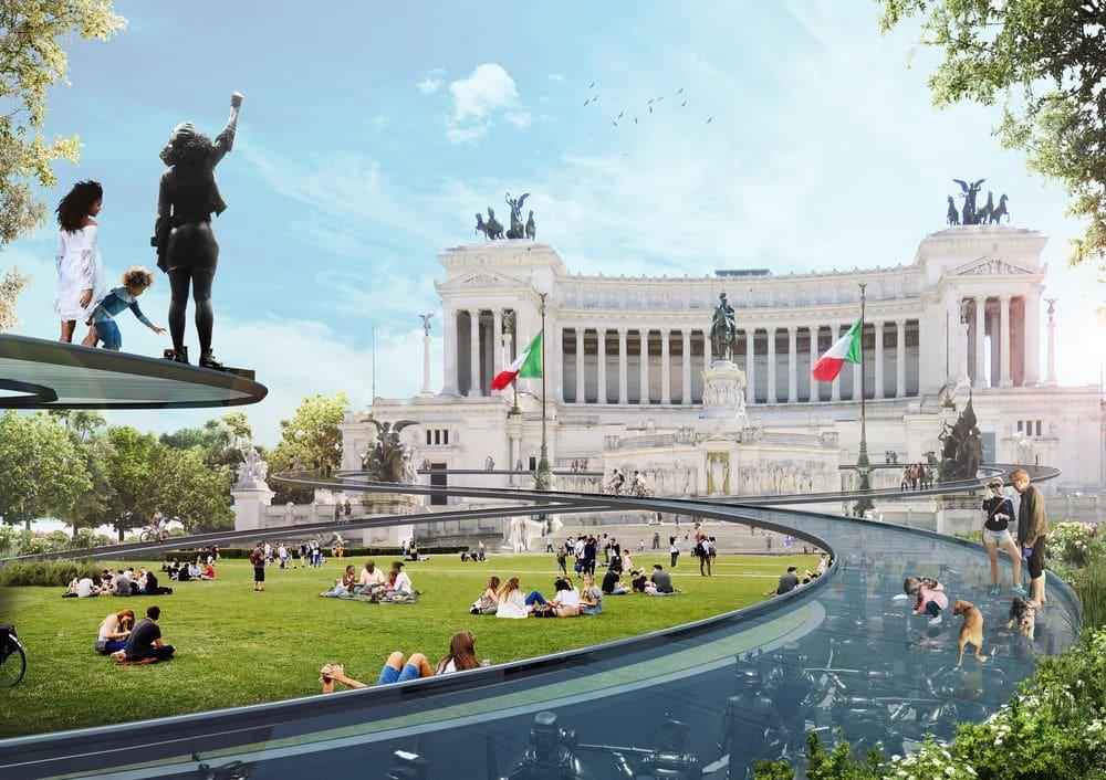 Piazza Venezia by Derek Pirozzi + William Olmsted Antozzi