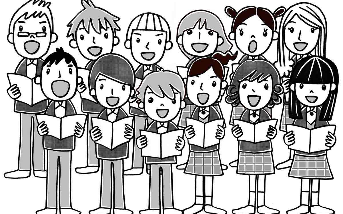 bambini cantano