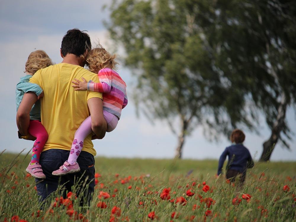 padre separato con figli