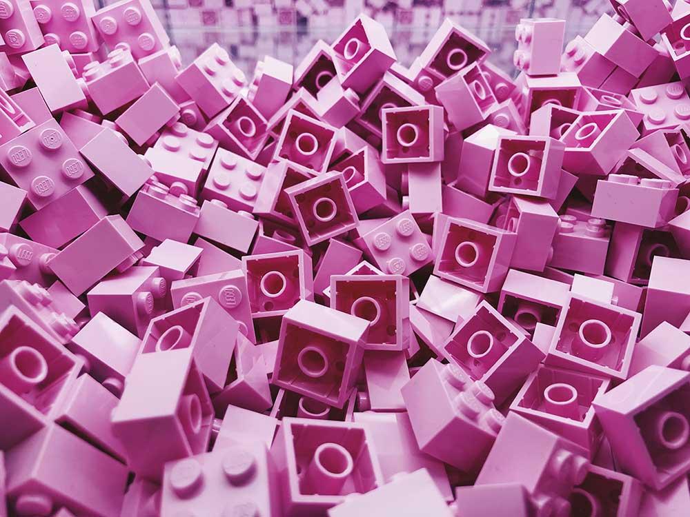 mattoncini lego rosa